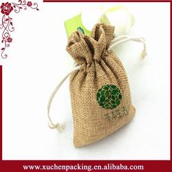 2015 Alibaba China custom silk screen printing natural mini jute sack bag for wheat