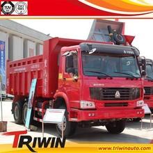 OEM RHD LHD diesel engine 266hp 196KW euro3 howo 6x4 heavy duty tipper truck for sale