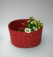 Factory direct bamboo basket of fruit and vegetables eggs home life included supplies supermarkets, department stores showcase b