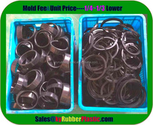 Compression Molded Rubber Seal / Aging Resistance Rubber Seal Part / -50~150 Centigrade EPDM Rubber Seal