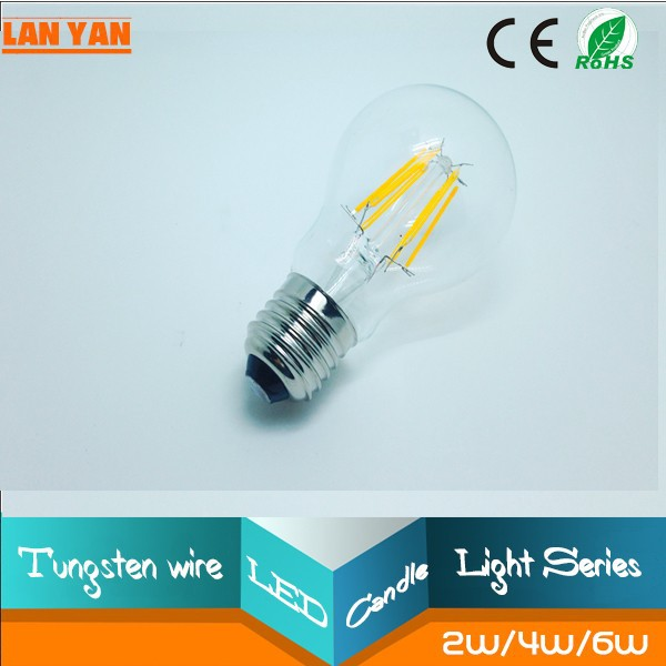 dimmable e27 and b22 base 5w a19 led filament bulb. Black Bedroom Furniture Sets. Home Design Ideas