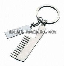2013 new comb shape metal keychain