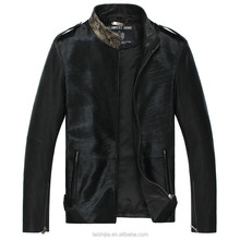 Calf Skin Short Geniune Leather Men's Jackets