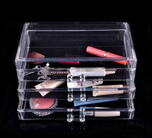 Professional Custom Acrylic Makeup Organizer Clear Cosmetic Case Wholesale