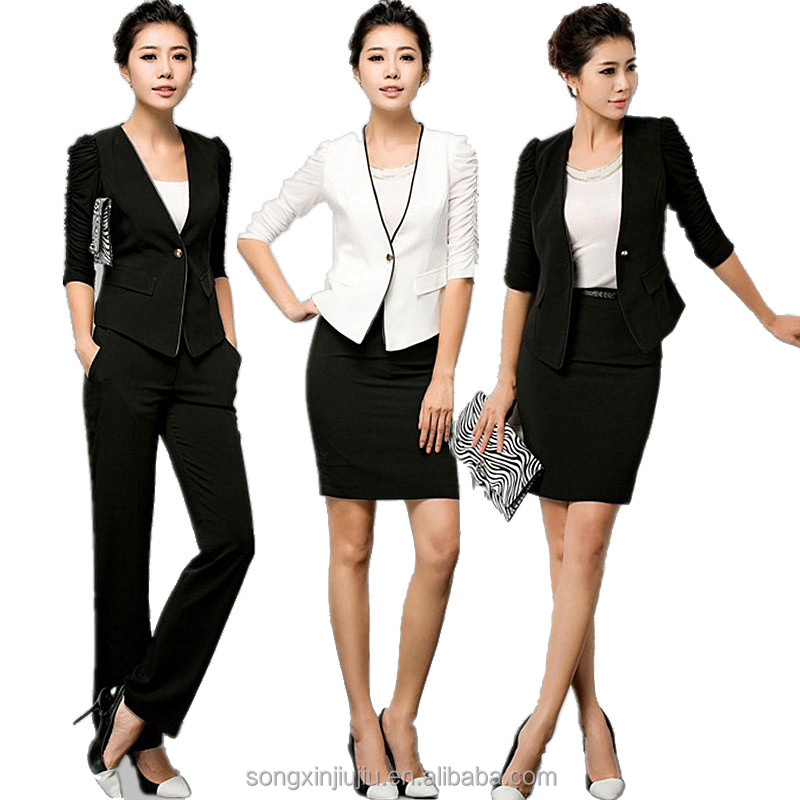 new style office uniform designs and pictures for women trade