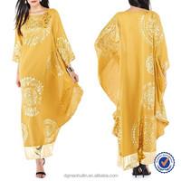 China Supplier Custom Wholesale New Design Arabic Kaftan Dubai Moroccan Kaftan Dress Print Dress