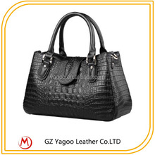 Croco Branded Classical PU Shopping Hand Bag from China Factory