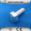 din933 din931 mild steel grade 4.8 zinc plated white thru bolt