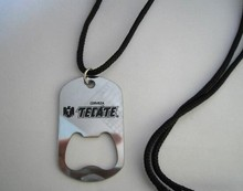 innovative designs metal custom bottle opener with necklace