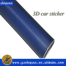 Fast shipping 3d carbon fiber film and carbon wrapping 3d car sticker