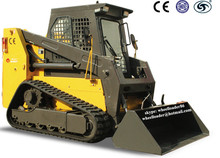 1200kg earthmoving machine mini 100hp skid steer loader track