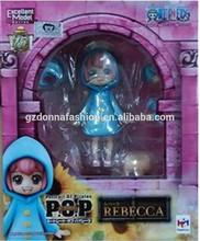 2015 la nueva acción de una pieza caliente del anime de Rebecca de la niñez del PVC 11cm de los juguetes calcula