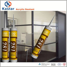 white color paintable water based acrylic sealant for installing wall panels
