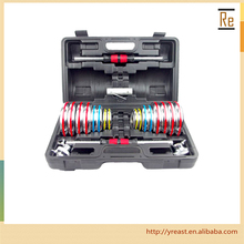 home gym equipment colorful cast iron adjustable dumbbell set