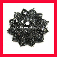 Black Rhinestone brooches,Chair sash brooches