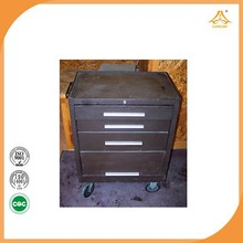 Factory direct sale stainless steel rolling tool cabinet with 4 casters