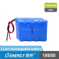 Lithium ion battery pack 12 volt lithium ion battery for medical instrument