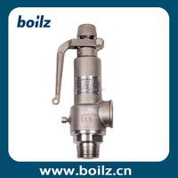 Threaded full lift spring loaded boiler steam safety relief valve