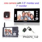 Dual monitor 2.4 ghz digital sem fio peephole visualizador de segurança ip da porta olho da câmera