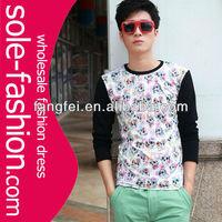Newest style 100% cotton long sleeve men's T shirt