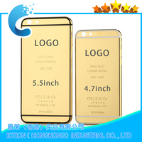 High Quality 24K Gold Plating Battery Back Housing Cover Skin for iPhone 6Plus 5.5""