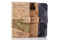 New high quality world map pattern design PU+TPU/PC mobile phone case for iphone 6