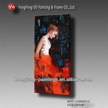 Mujer moderna retrato abstracto pintura al óleo sobre lienzo de sexo a partir de la imagen- mhf- 13080012