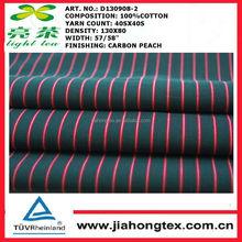 100% cotton yarn dyed poplin carbon peach fabric
