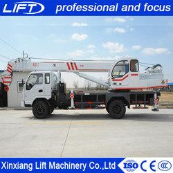 China manufacturer mini autocrane 5 ton telescopic boom truck crane for sale