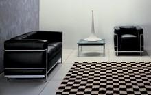 Designer replica Le Corbusier LC2 Comfort Leisure Chair & 2 Seater Leather Sofa