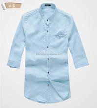 solid color/comfort casual men's shirt/ comfort casual Tshirt/latest design men shirts of 2015