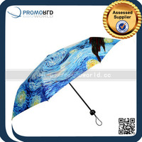 Wholesale Metal Frame 3 Folding Umbrella