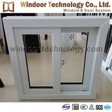 Economical style cheap price white color anti-UV PVC sliding window