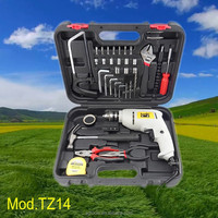Kaqi professional tools 38pcs hardware tool set mini impact drill