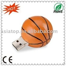 Hot! basketball shape promotion usb gift for Asian Games(128MB~32GB)