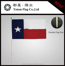 4x6 Inch Texas Lone Star Flags Desk Hand Held Stick Flags