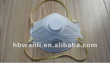 N95 Approved Particle Respirator with Activated Carbon Filter and ear loop and valve