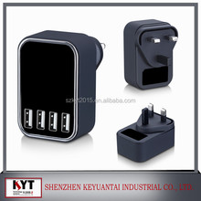 KYT Hot Selling Products Usb wall Charger 24W EU US AU KC UK Plug for mobile Power Supply