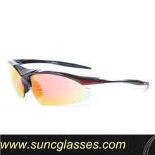 la parte superior de aluminio de diseño de gafas de ciclismo con el logotipo personalizado