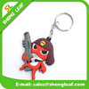 China OEM manufacturer promotional 2d 3d custom soft PVC rubber keychain with SEDEX certified