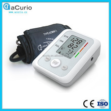 LCD Display CE Approved Medical Device Sphygmomanomet Healthcare Mini Blood Pressure Monitor with Voice System
