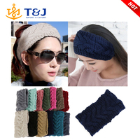 Beauty Fashion 13 Colors Flower Crochet Knit Knitted Headwrap Headband Ear Warmer Hair Muffs Band Winter
