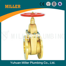 ML-1404 China Supply yuhuan valve low price 6 inch PN25 150lb full bore Flange Brass Gate Valve for water supply