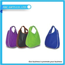 logo printed foldable polyester shopping bag