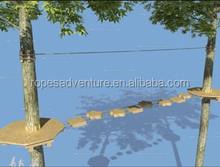 Adventure tree top park, forest adventure rope couse, addition to water park