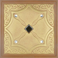 brush off 3D leather wall panel 40*40CM