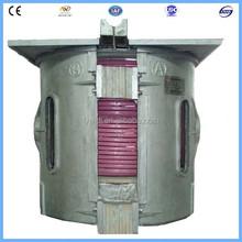 1ton de fundición de hierro de fusión de inducción horno de fusión de hierro fundido de chatarra precios