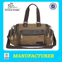China Newest Style Leisure 16oz Canvas Travel Bags for Boys