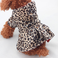 Wholesale Stylish Leopard Print Dog Dresses alibaba express dresses Sexy Dog Hoodies