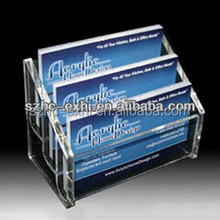 Customized acrylic name card holder display manufacturing